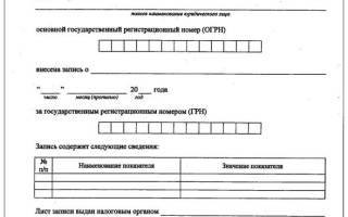 Какие документы выдает налоговая после регистрации ООО