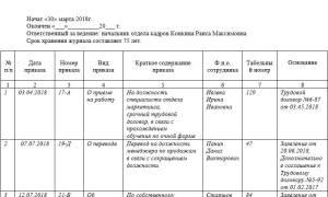 Регистрация приказов по личному составу пошаговая инструкция