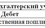 Учет госпошлины в бухгалтерском учете проводки