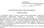 Должностные обязанности генерального директора ООО