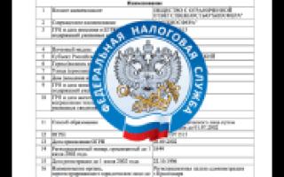 ФНС РФ сведения о регистрации юридических лиц