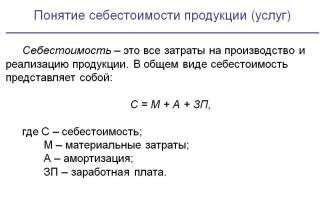 Себестоимость реализованной продукции формула расчета по балансу