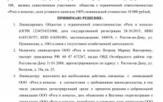 Ликвидация ООО без расчетного счета