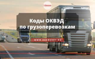 Код ОКВЭД грузовые перевозки для ИП