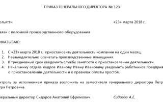 Уведомление о приостановлении деятельности ООО образец