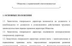 Должностные обязанности заместителя генерального директора ООО