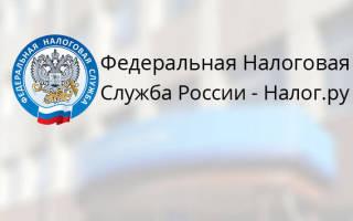 Регистрация на сайте ИФНС России