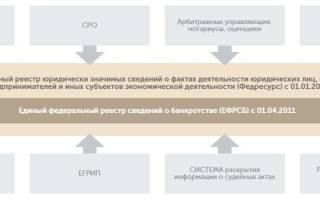 Единый федеральный реестр сведений о банкротстве регистрация